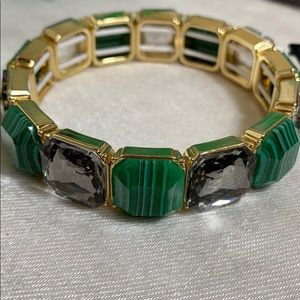 INC green square stretchy bracelet